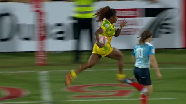 VIDEO. Ellia Green, la Carlin Isles du rugby à 7 féminin enrhume les défenses au Dubaï Sevens