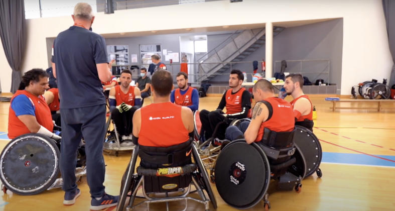 VIDÉO. Reportage au coeur de France rugby fauteuil avant les Jeux Paralympiques