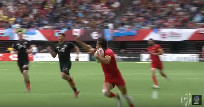 Rugby à 7: l'Espagne s'offre un succès historique face aux All-Blacks