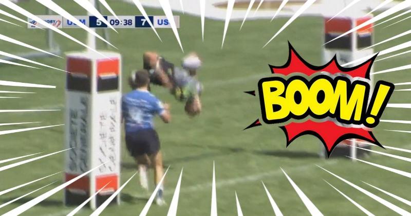 VIDEO. Espoirs Pro Sevens. Melvin Quiroga s'offre un salto arrière au moment de marquer !
