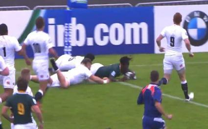 RESUME VIDEO. L'excellent match remporté par les Baby Boks face à l'Angleterre -20