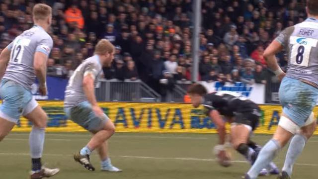 VIDEO. Premiership - Exeter : Henry Slade régale avec une feinte de passe entre les jambes