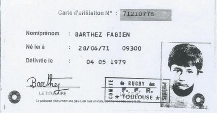 Rugby Amateur : on a retrouvé la licence de Fabien Barthez chez les Minimes de l'ES Laroquaise