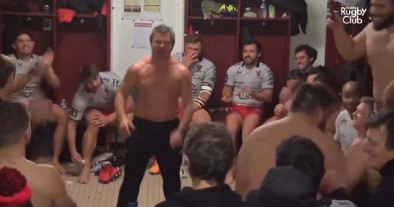 VIDÉO. Fabrice Landreau s'offre un breakdance dans le vestiaire du RCT après la victoire sur La Rochelle