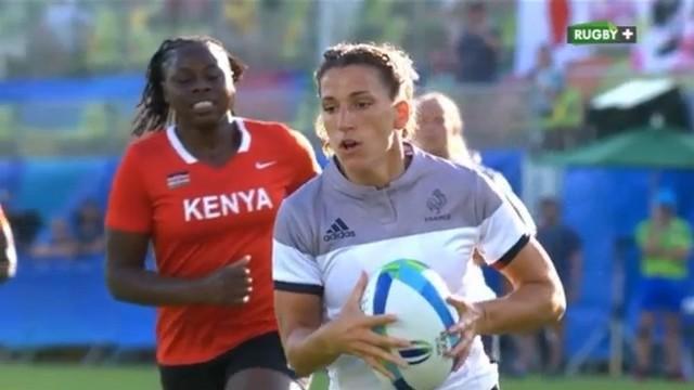 Rio 2016 - France 7 féminines surpasse le Kenya et entrevoit les quarts de finale (40-7)