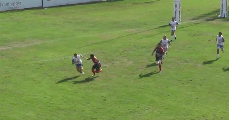 Fédérale 1 : Aubenas relance de son en-but... et marque un essai de 100m exceptionnel ! [VIDÉO]