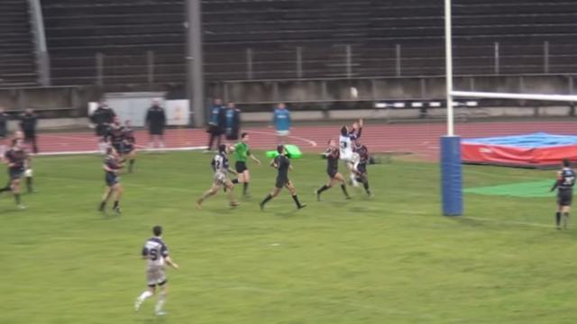 VIDEO. Fédérale 1 : le magnifique essai de Bourg-en-Bresse signé Cassin après un subtil coup de pied