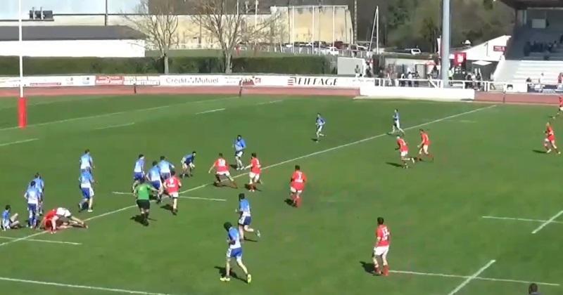 Fédérale 3 : le Gers a du talent, la Réserve d'Auch régale avec un essai à dix passes ! [VIDEO]