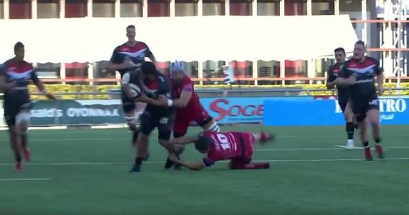 VIDEO. Pro D2. Feinte, offload, crochets, les avants d'Oyonnax ont régalé façon Super Rugby
