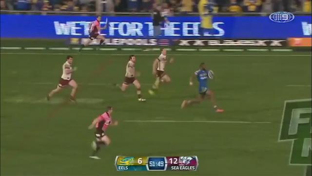 VIDEO. Un festival d'interceptions de 100 mètres en NRL et une charge surpuissante dans la compilation du rugby à XIII
