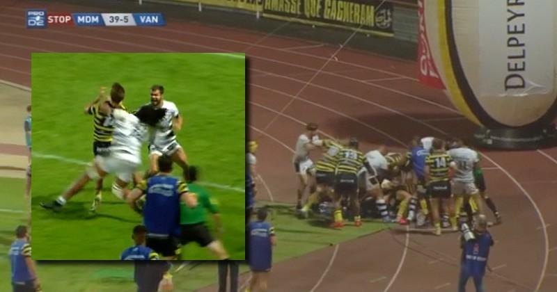 VIDEO. Pro D2. Fin de match musclée à Mont-de-Marsan sur fond de fessée pour Vannes