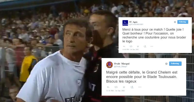 FLASHBACK. On a imaginé les réactions Twitter de la 1/2 entre Toulouse et Agen en 2002