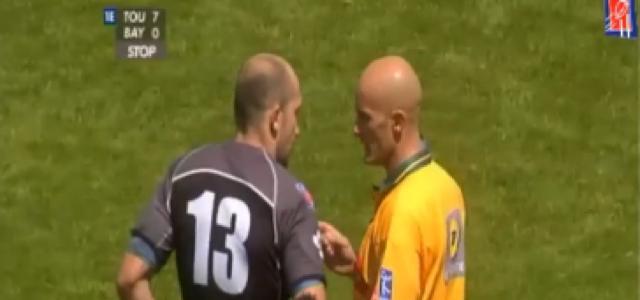 FLASHBACK. 2008. Discussion musclée entre Richard Dourthe et Patrick Péchambert... dans la foulée, le Stade Toulousain marque un essai de 60m