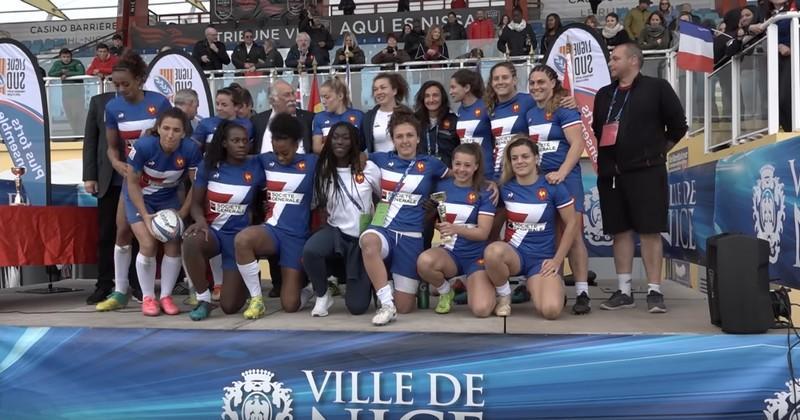France 7 Féminines - Le groupe pour le Kitakyushu 7s avec Drouin et Trémoulière