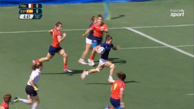 VIDEO. Rio 2016 - France 7 féminines domine facilement l'Espagne aux Jeux olympiques (24-7)