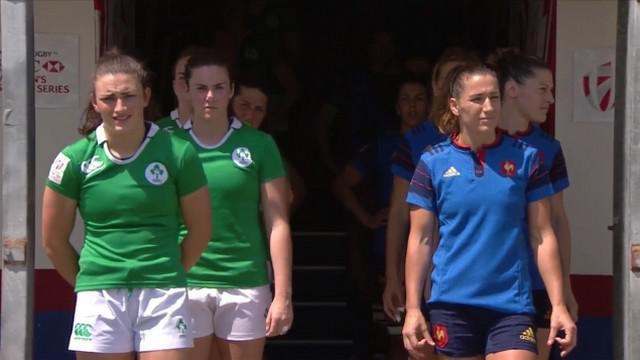 VIDEO. Clermont 7s. France 7 féminines corrige l'Irlande lors de son premier match (40-0)