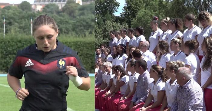 VIDEO. Coupe du monde -  France Féminines. Dernier entraînement à Marcoussis, photo officielle et départ pour l'Irlande