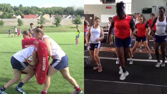 VIDEO. Coupe du monde de rugby féminin. France Féminines entre sérieux et bonne humeur avant l'Afrique du Sud