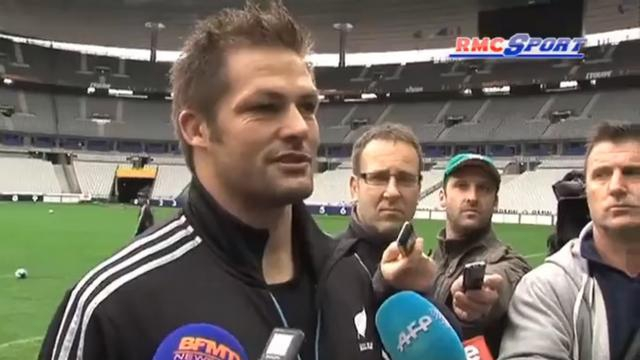 VIDEO. France - All Blacks : Richie McCaw : « Ce genre de match est toujours très physique »