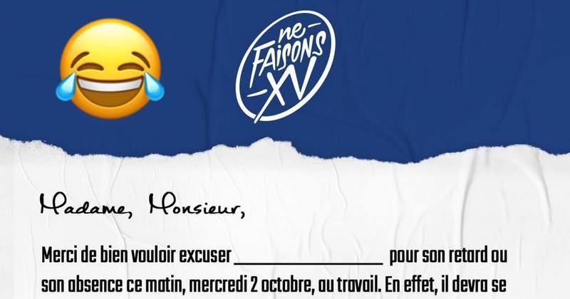 Wtf France Rugby Vous Offre Un Mot D Excuse Pour Voir Le