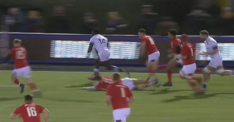 VIDÉO. 6 Nations U20. Gabriel Ibitoye écœure 6 Gallois sur 50 mètres