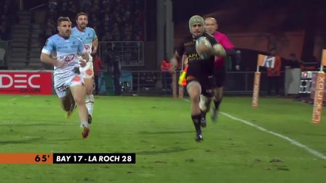 VIDEO. Top 14 - La Rochelle. Gabriel Lacroix s'offre un quadruplé en 12 minutes face à Bayonne