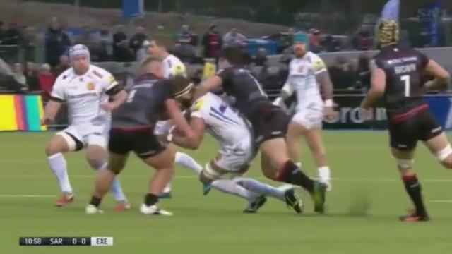VIDEO. Premiership : la violente double charge sur Geoff Parling méritait-elle une double sanction ?