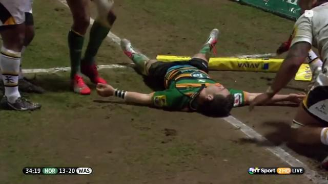 VIDEO. Premiership. Troisième K-O pour George North après un coup de genou à la tête