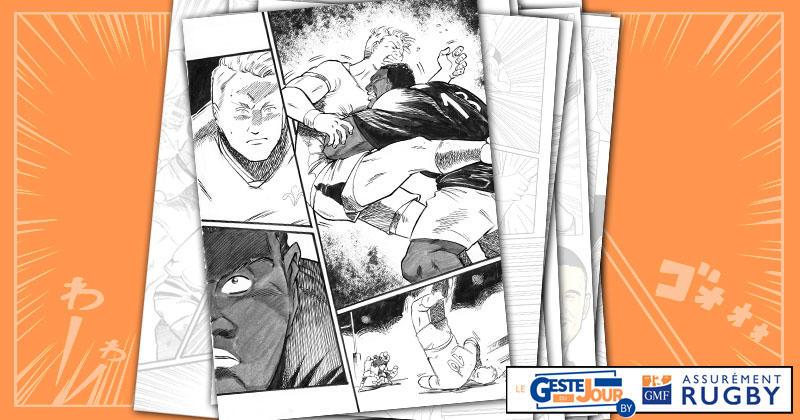 Le geste du jour en manga : Vakatawa envoie valser Biggar sur une énorme percussion
