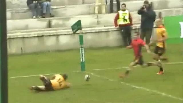 VIDEO. 6 nations B. Le Bayonnais Guillaume Rouet s'offre un essai de 70m grâce à un énorme raté