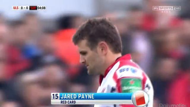 H Cup. Jared Payne suspendu deux semaines après son carton rouge face aux Saracens