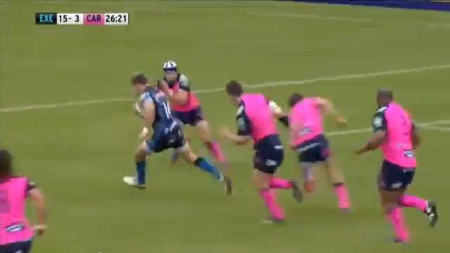VIDEO. H Cup : Exeter fait exploser la défense des Cardiff Blues