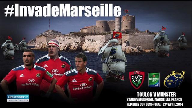 VIDEO. H Cup - RCT - Munster. La Red Army en mode Pirates des Caraïbes avant d'envahir Marseille