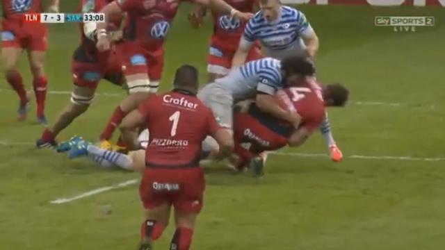 VIDEO. H Cup - RCT - Saracens. Jacques Burger se frotte avec amour à Danie Rossouw et Bakkies Botha