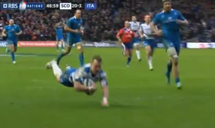 L'incroyable essai en contre de Stuart Hogg contre l'Italie