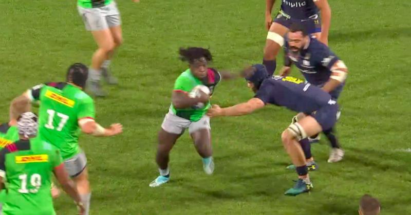 Gabriel Ibitoye joue tout seul contre la défense de Clermont [Vidéo]