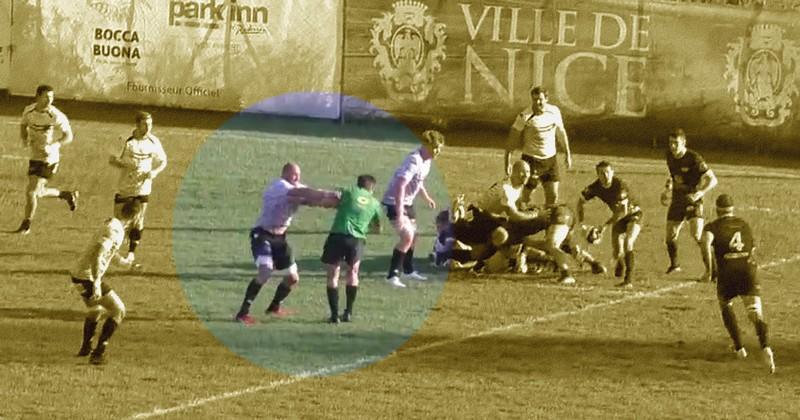 VIDÉO. Fédérale 1 - Il bouscule l'arbitre et prend l'un des trois rouges du match