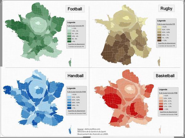 Le rugby principalement pratiqué dans le Sud-Ouest