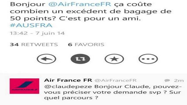 INSOLITE. Quand Air France s'inquiète pour la valise de Philippe Saint-André sur Twitter...