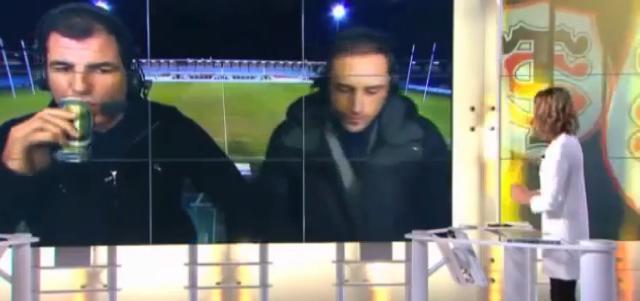 VIDÉO. Marc Lièvremont se prend une petite binouze en direct sur Canal +