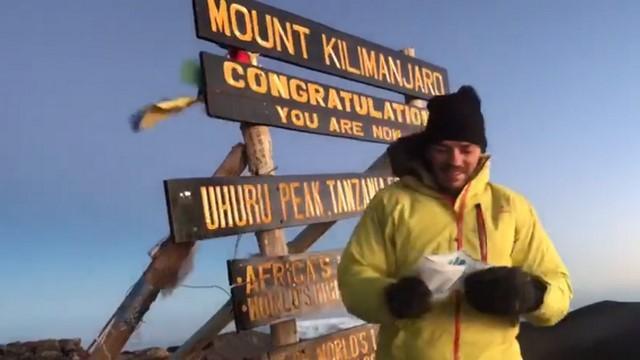 VIDÉO. INSOLITE. Jalil Narjissi a vaincu les 5 895m du Kilimandjaro