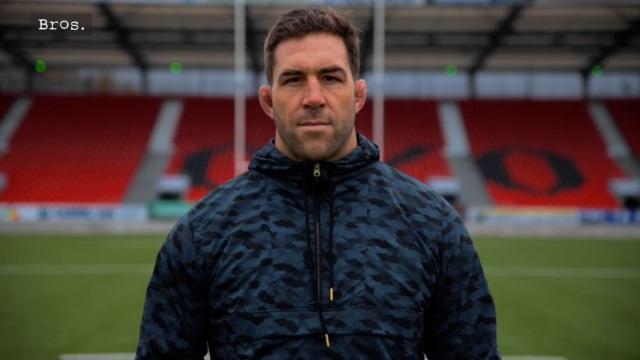 VIDEO. Rugby, famille, business... La nouvelle vie de Jamie Cudmore à Oyonnax
