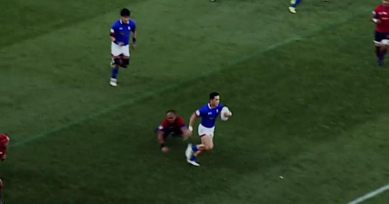 VIDÉO. Asia Rugby Championship : sur une relance, il met cinq adversaires dans le vent pour l'essai de 80m