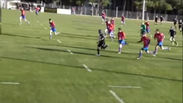 VIDEO. Amateur. Le jeune cadet du PARC Jason Castella régale avec un essai de 85m tout en vitesse