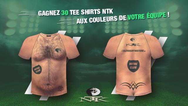 JEU-CONCOURS. Gagnez 30 tee shirts poilus NTK pour votre équipe avec votre logo !