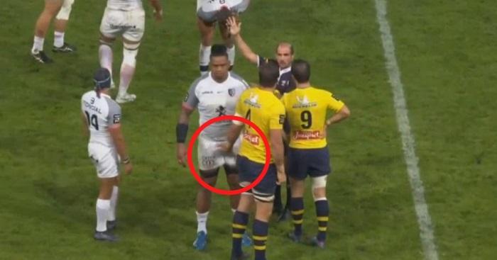 VIDEO. En plein match, Flip Van der Merwe relance la mode du chat-bite sur Joe Tekori