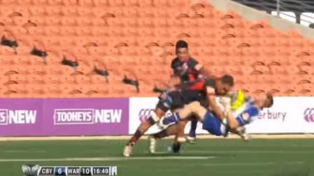 VIDEO. NRL. John Wesley Tauti découpe Kyle Krisanski-Kennedy en deux avec ce plaquage monstrueux