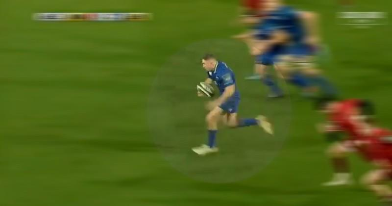 VIDEO. Pro 14 - Leinster. Jordan fait Larmour à la défense du Munster sur 70m