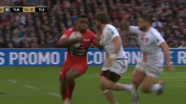 VIDÉO. RCT - Stade Toulousain : Josua Tuisova se paye Maxime Médard et un beau doublé au Vélodrome