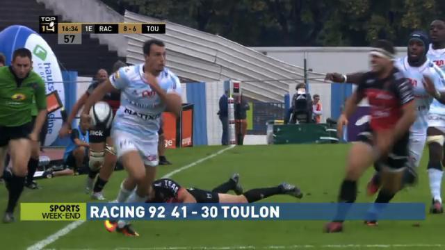 VIDEO. Top 14 - Le hat-trick de Juan Imhoff face à Toulon